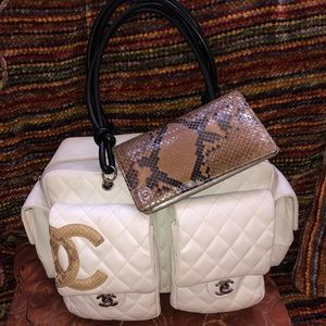 Authentic Chanel Cambon Reporter Bag & Wallet